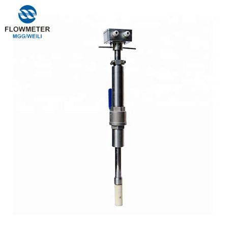 AC powered chèn chi phí thấp lưu lượng kế điện từ đối với nước thải ống lớn