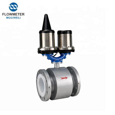 3.6V Lithium Battery Powered Rs485 điện từ Flowmeter