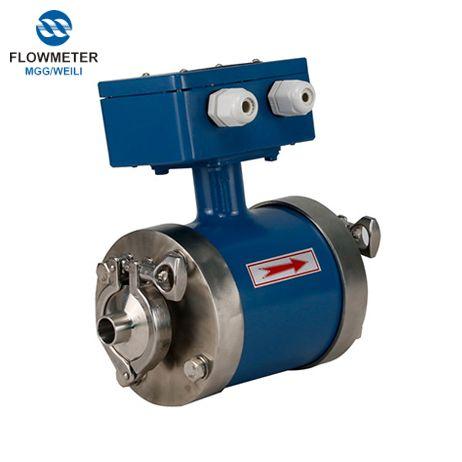 Nước Sữa Analog Magnetic Flow Meter Giá điện Flowmeter